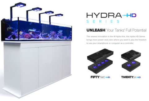 AquaIllumination Hydra FiftyTwo HD LED Fixture