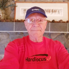 Don Heavilin wearing HardFocus Long Sleeve Logo Tee with red GrypVyn