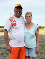 Randy Krick of Wernersville, PA wearing his Poly Slick Shot with Orange GrypVyn - He won the VA Handicap Shoot with a 97 out of 100 on July 2nd