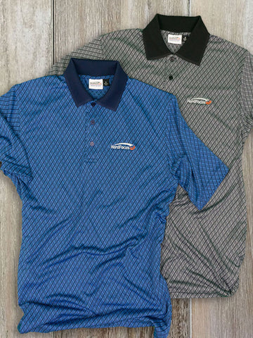 Short Sleeve Flag Logo Poly Shirt + Blue GrypVyn™