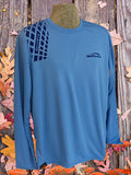 Large Sky Blue  Long Sleeve  Poly Tee + Navy GrypVyn™ Left Hand
