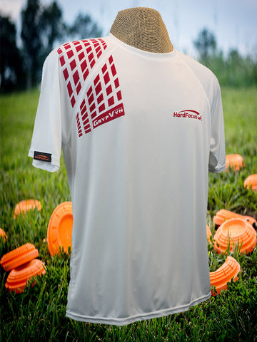 Short Sleeve Flag Logo Poly Shirt + Red GrypVyn™