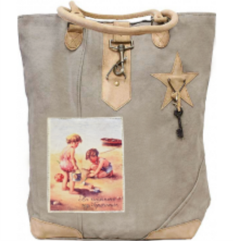Canvas Tote - Beach Kids
