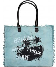 Canvas Market Tote - Beach & Relax