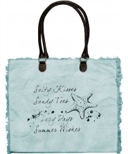 Canvas Market Tote - Salty Kisses