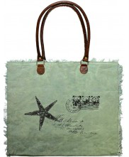 Canvas Market Tote - Starfish