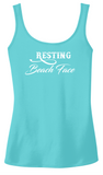 Resting Beach Face- Ladies Tee, Tanks, Long sleeve Tee