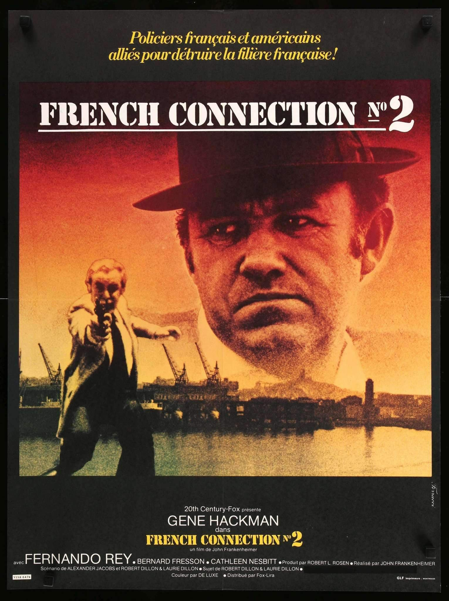 French Connection II (1975) Original French Movie Poster ...