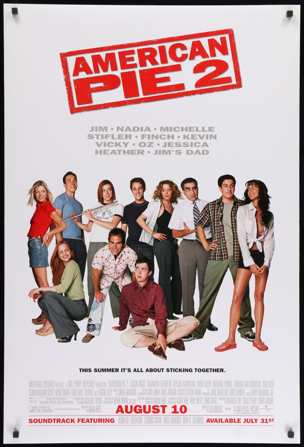 American Pie 2 2001 Original One Sheet Movie Poster Original Film Art Vintage Movie Posters