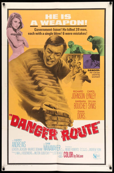 Danger Route (1967)-Original Film Art - Vintage Movie Posters
