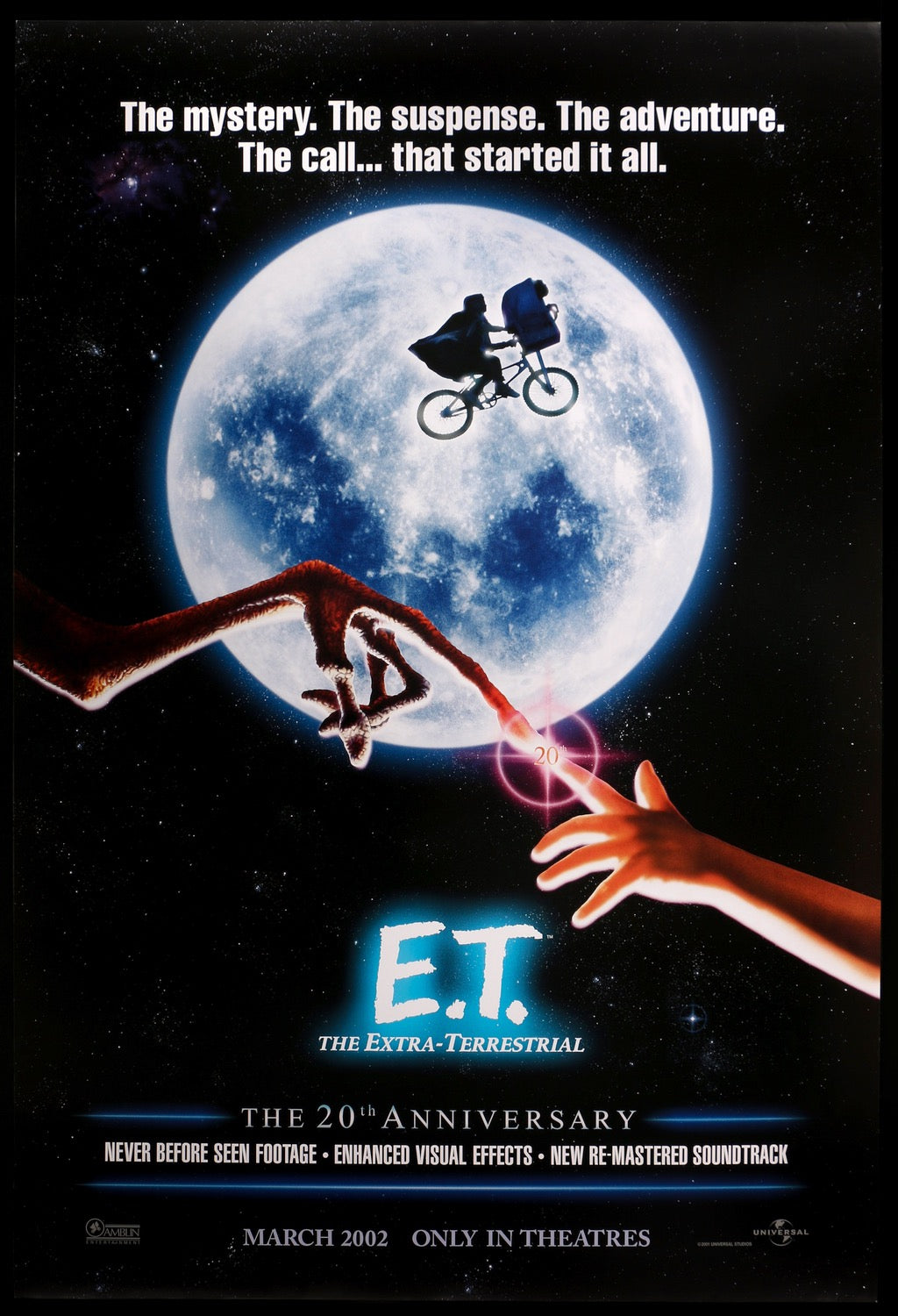E T The Extra Terrestrial 1982 R2002 One Sheet Movie Poster Original Film Art Vintage Movie Posters