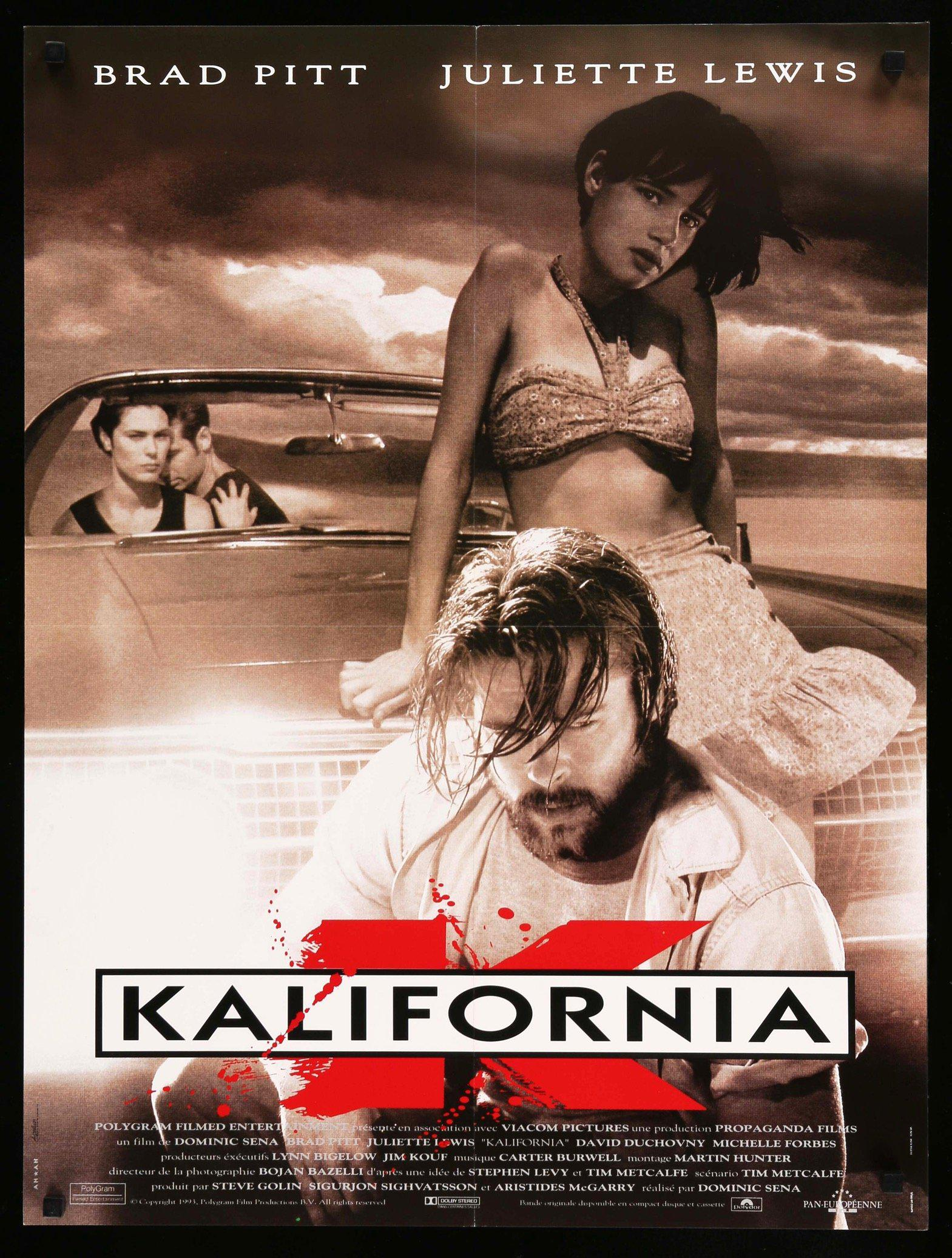 Kalifornia (1993) Original Film Art  Vintage Movie Posters