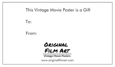 Gift Message-Original Film Art - Vintage Movie Posters