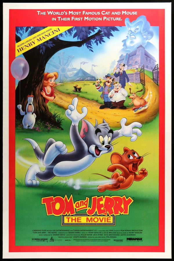 Tom and Jerry: The Movie (1992) One-Sheet Movie Poster ...