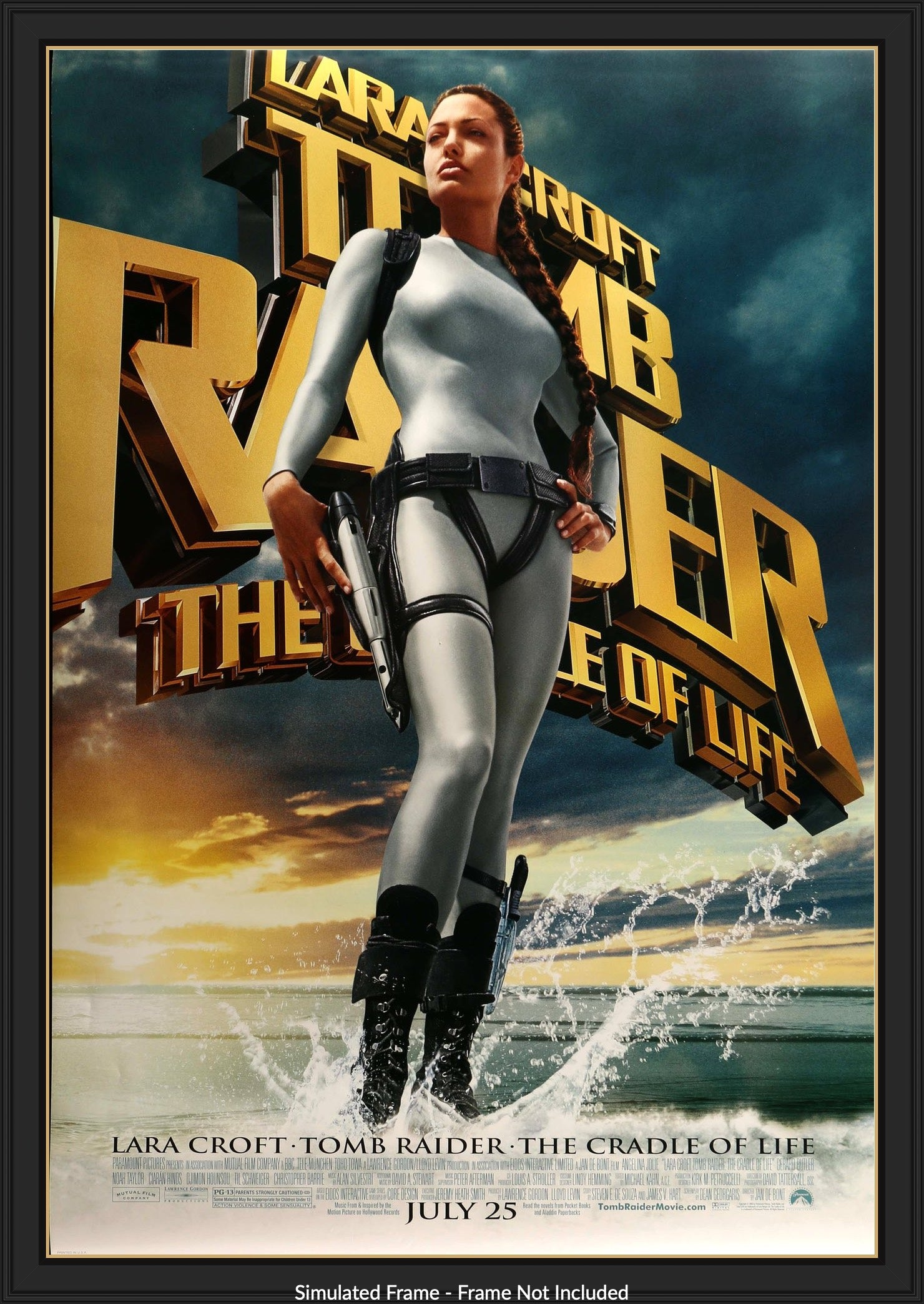 Tomb Raider The Cradle Of Life 2003 Original One Sheet Movie Poster Original Film Art Vintage Movie Posters