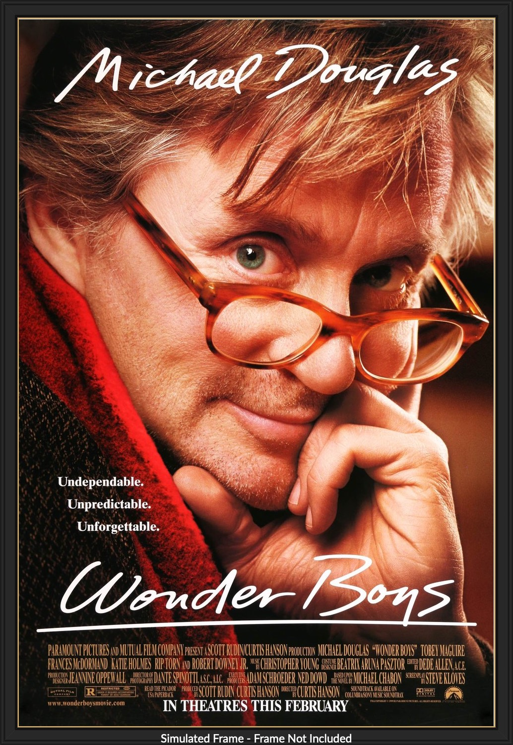 Wonder Boys 2000 Original One Sheet Movie Poster Original Film Art Vintage Movie Posters