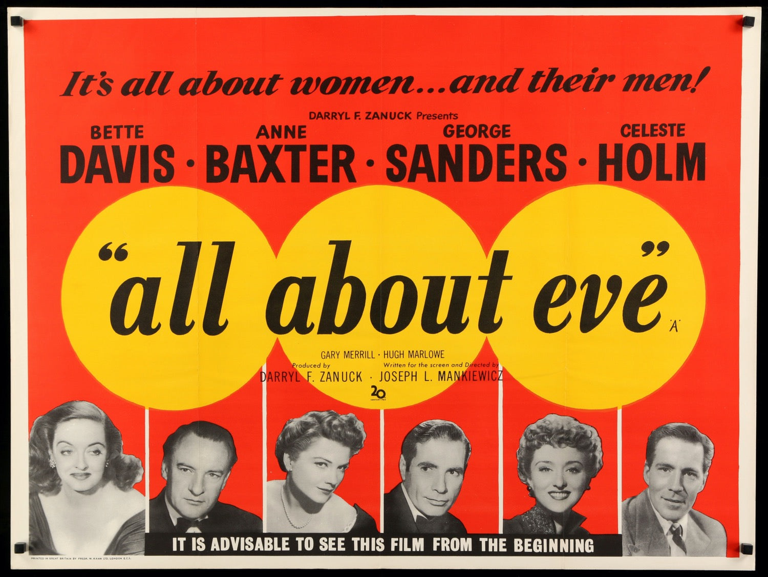 Image result for all about eve poster 1950