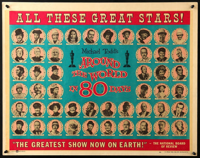 Movie Poster - Around the World in Eighty Days (1956)  - Original Film Art - Vintage Movie Posters