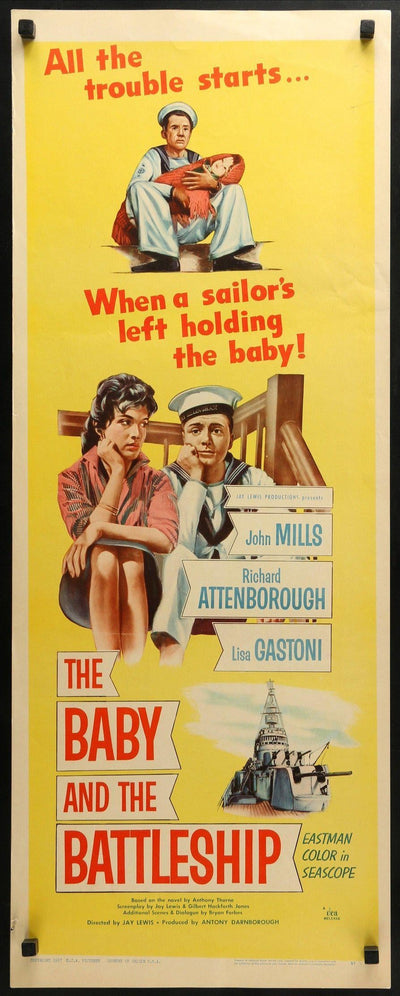 Baby and the Battleship (1956)-Original Film Art - Vintage Movie Posters