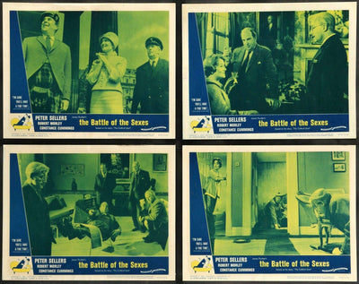 Battle of the Sexes (1960) Lobby Cards - Set of 8-Original Film Art - Vintage Movie Posters