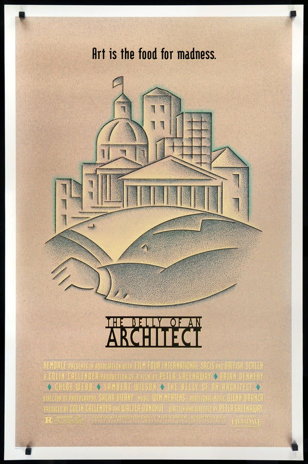 The Belly Of An Architect 1987 Original One Sheet Movie Poster Original Film Art Vintage Movie Posters