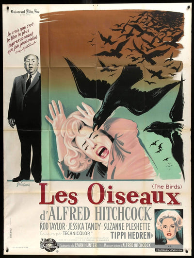 Birds (1963)-Original Film Art - Vintage Movie Posters