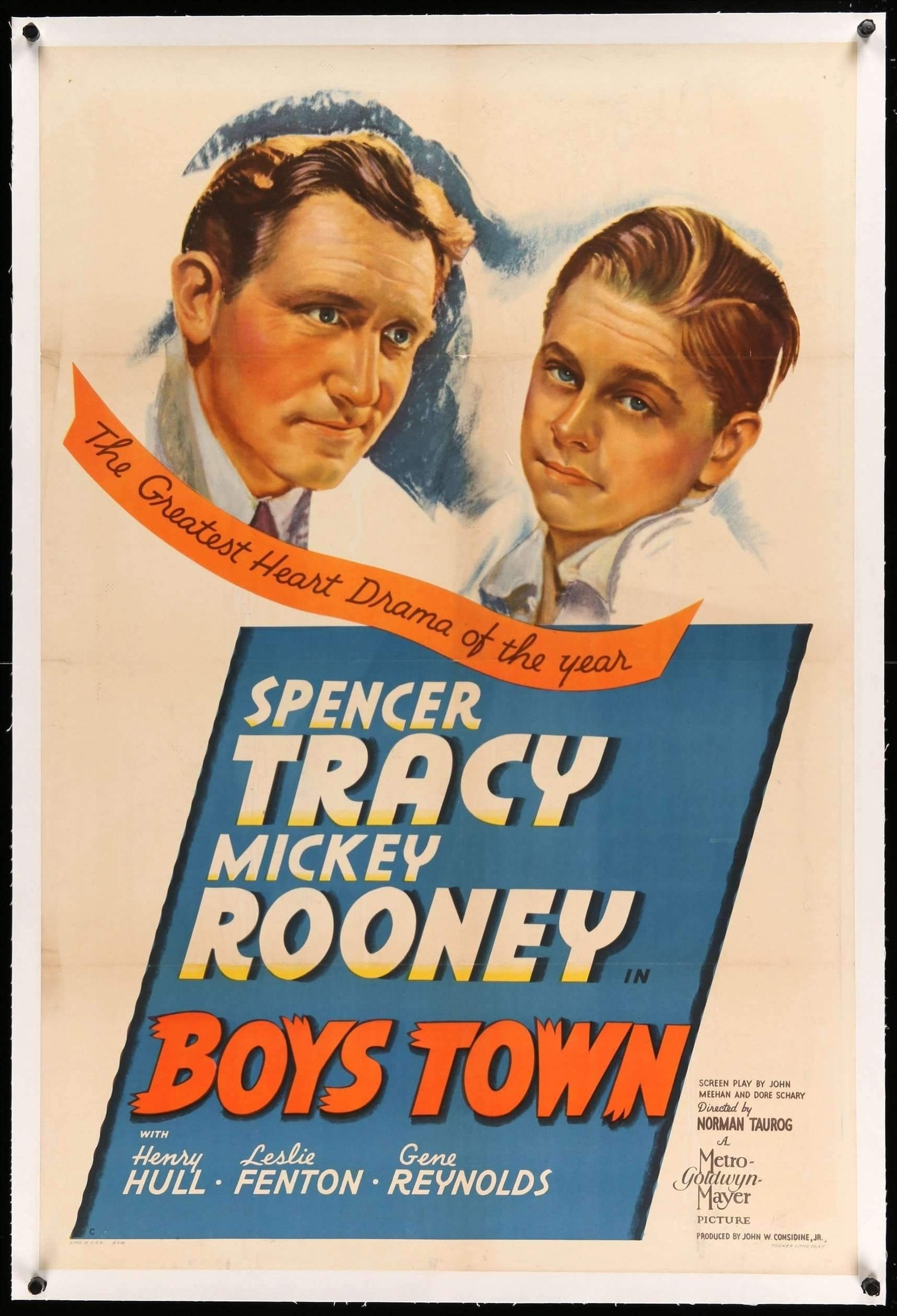 Boys Town 1938 One Sheet Movie Poster Original Film Art