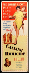 Movie Poster - Calling Homicide (1956)  - Original Film Art - Vintage Movie Posters
