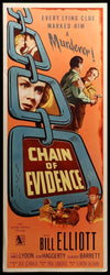 Movie Poster - Chain of Evidence (1956)  - Original Film Art - Vintage Movie Posters