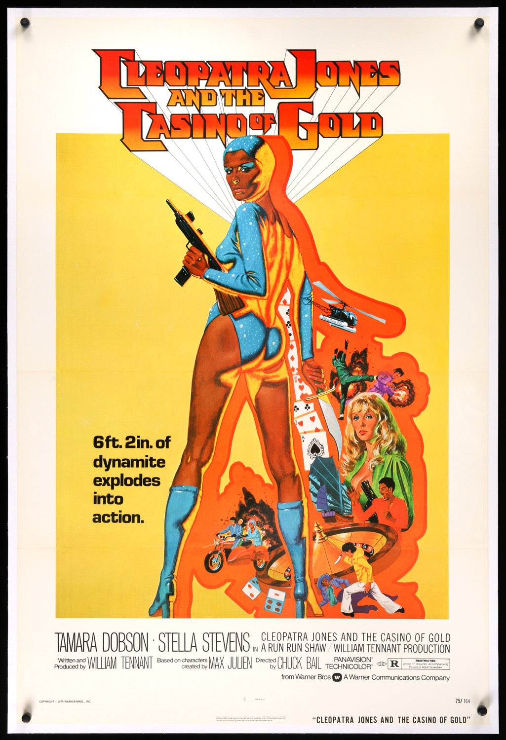 Cleopatra Jones And The Casino Of Gold 1975 One Sheet Movie Poster Original Film Art Vintage Movie Posters