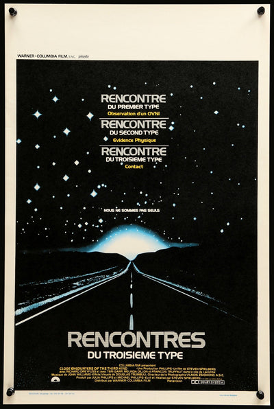 Movie Poster - Close Encounters of the Third Kind (1977)  - Original Film Art - Vintage Movie Posters