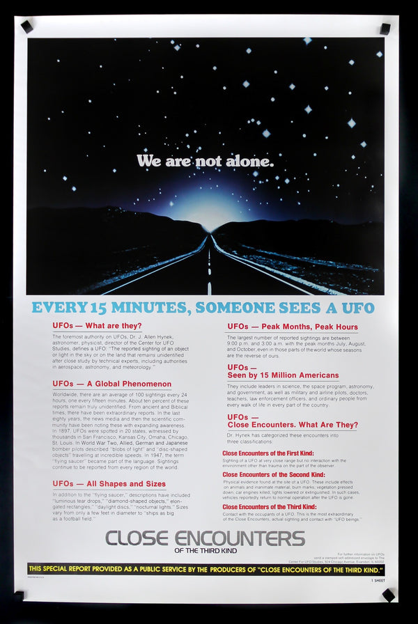 Close Encounters of the Third Kind Large Poster Art Print Gift A0 A1 A2 A3 A4