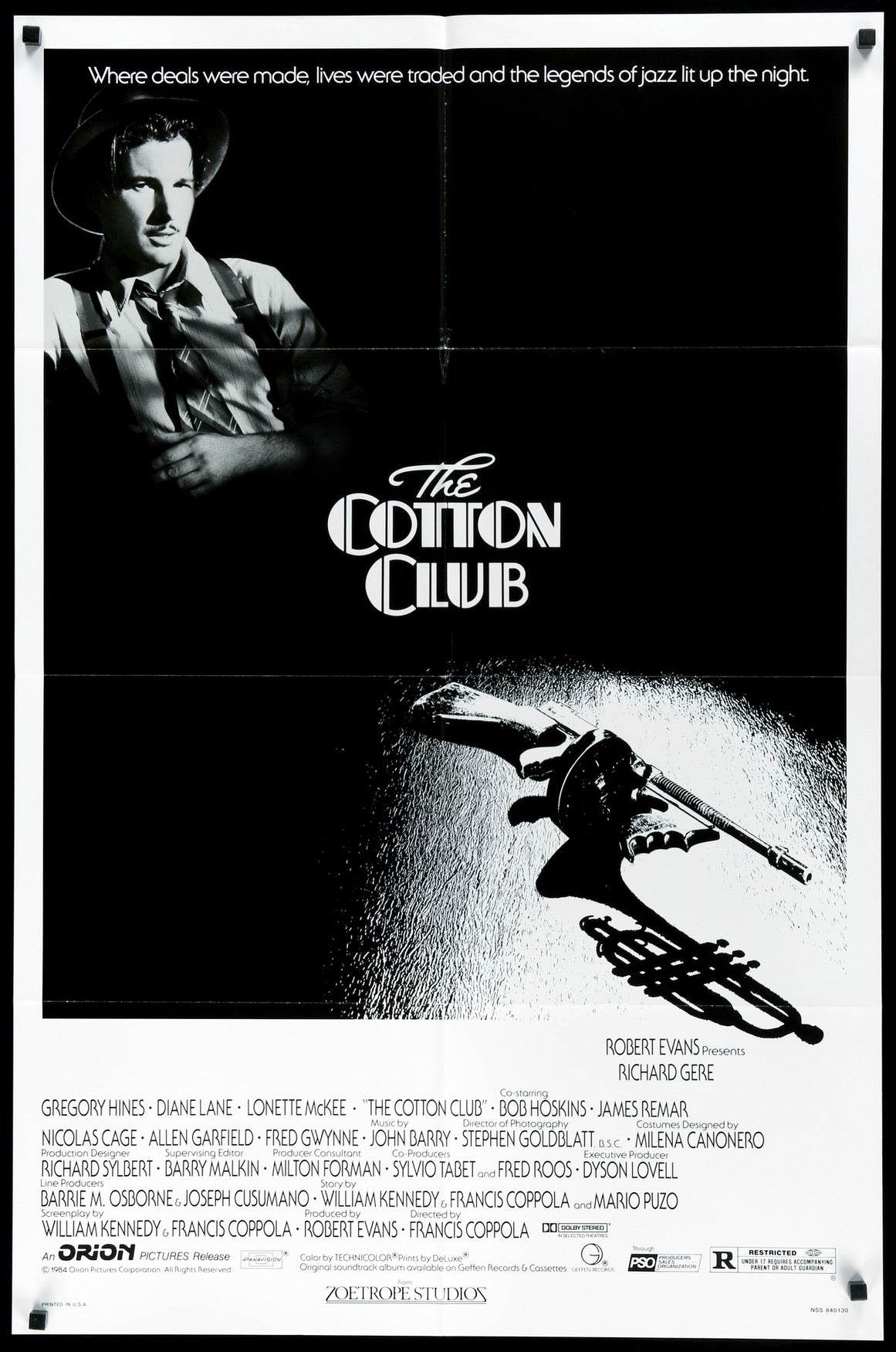 Cotton Club (1984) Original One-Sheet Movie Poster - Original Film ...