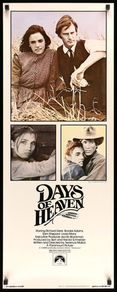 Days of Heaven (1978) Movie Poster - Original Film Art - Vintage Movie Posters