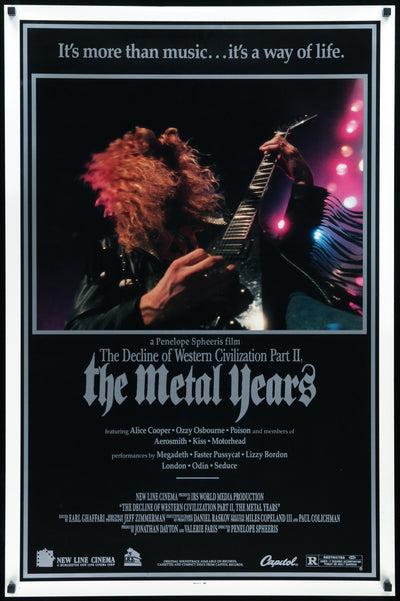 Decline of Western Civilization Part II: The Metal Years (1988)-Original Film Art - Vintage Movie Posters