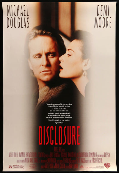 Movie Poster - Disclosure (1994)  - Original Film Art - Vintage Movie Posters