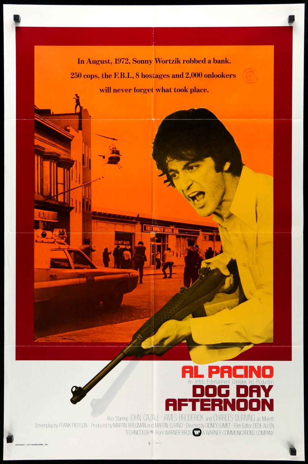Dog Day Afternoon (1975) Original One-Sheet Movie Poster - Original Film  Art - Vintage Movie Posters