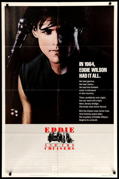 Eddie and the Cruisers (1983) Movie Poster - Original Film Art - Vintage Movie Posters