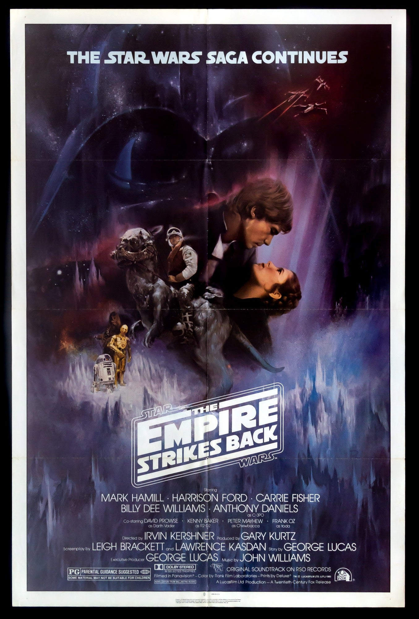 The Empire Strikes Back 1980 Original One Sheet Movie Poster Original Film Art Vintage Movie Posters