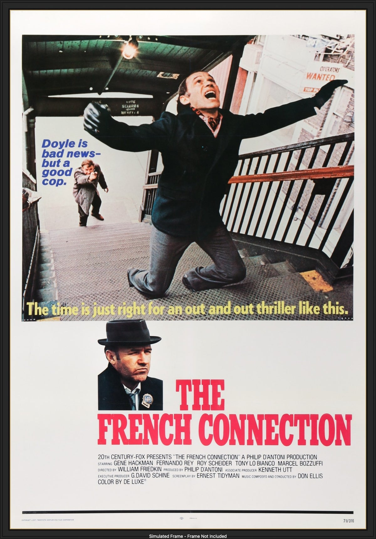 The French Connection (1971) Original One-Sheet Movie Poster - Original Film  Art - Vintage Movie Posters