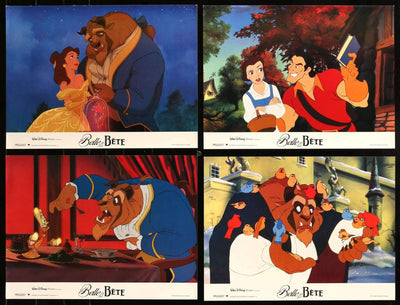 "Beauty and the Beast (1991) Set of 12 French Lobby Cards - 12"" x 16""-Original Film Art - Vintage Movie Posters"
