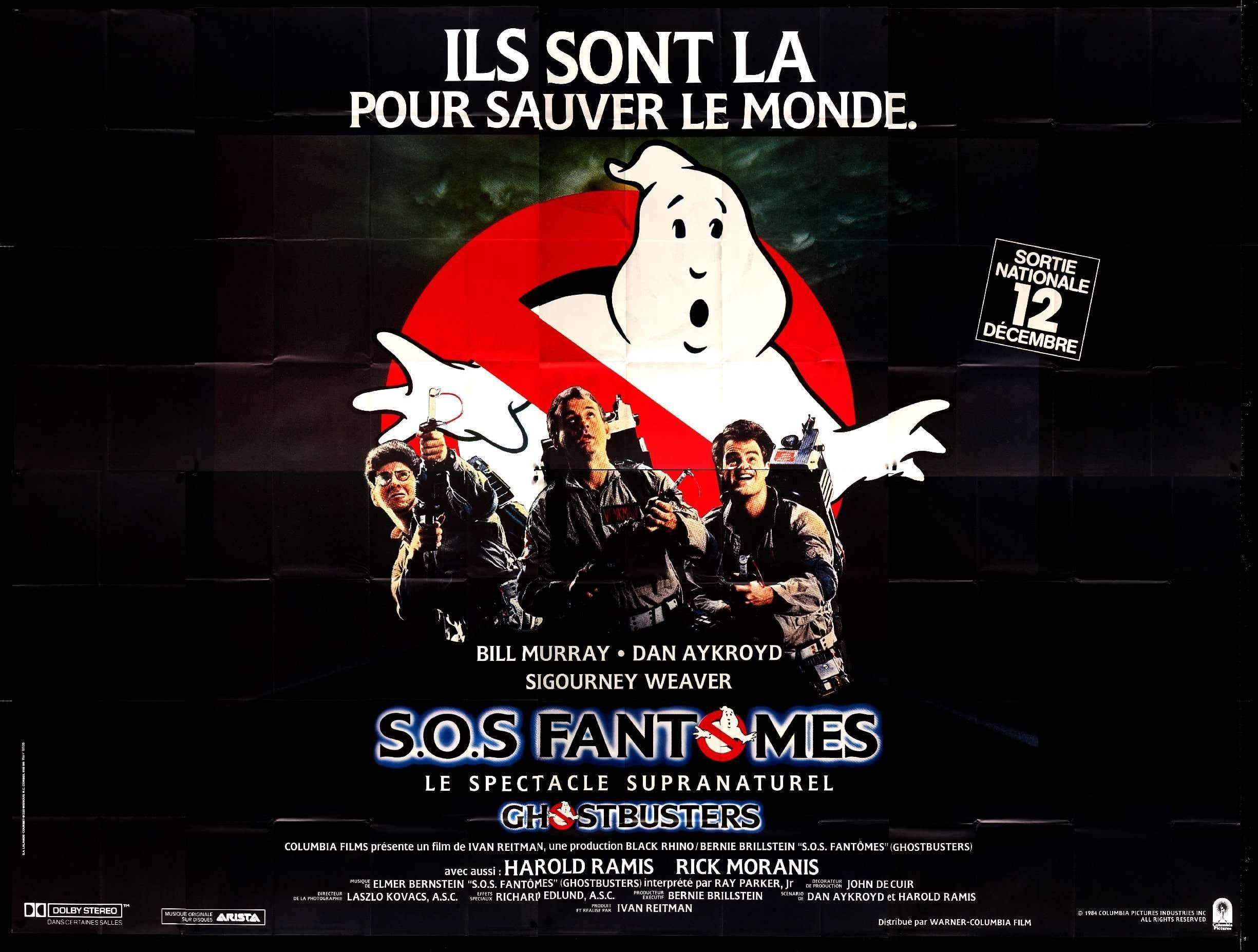 Ghostbusters 1984 Original French 8 Panel Movie Poster Original Film Art Vintage Movie Posters