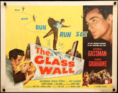 Movie Poster - Glass Wall (1953)  - Original Film Art - Vintage Movie Posters