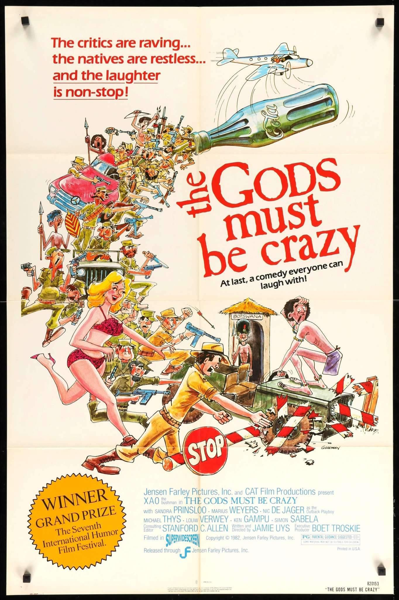 "The Gods Must Be Crazy (1980) Vintage Movie Poster - 27"" x ..."