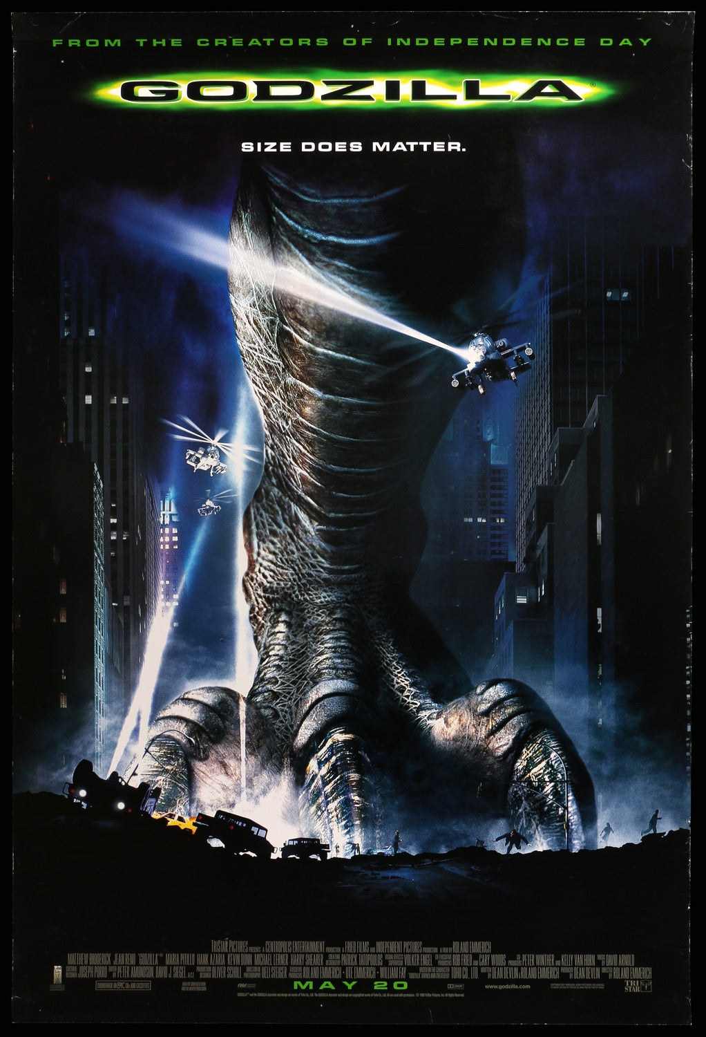 Godzilla  1998  Original One-sheet Movie Poster