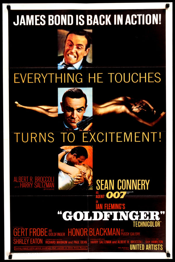 Goldfinger (1964) Original One-Sheet Movie Poster - Original Film ...
