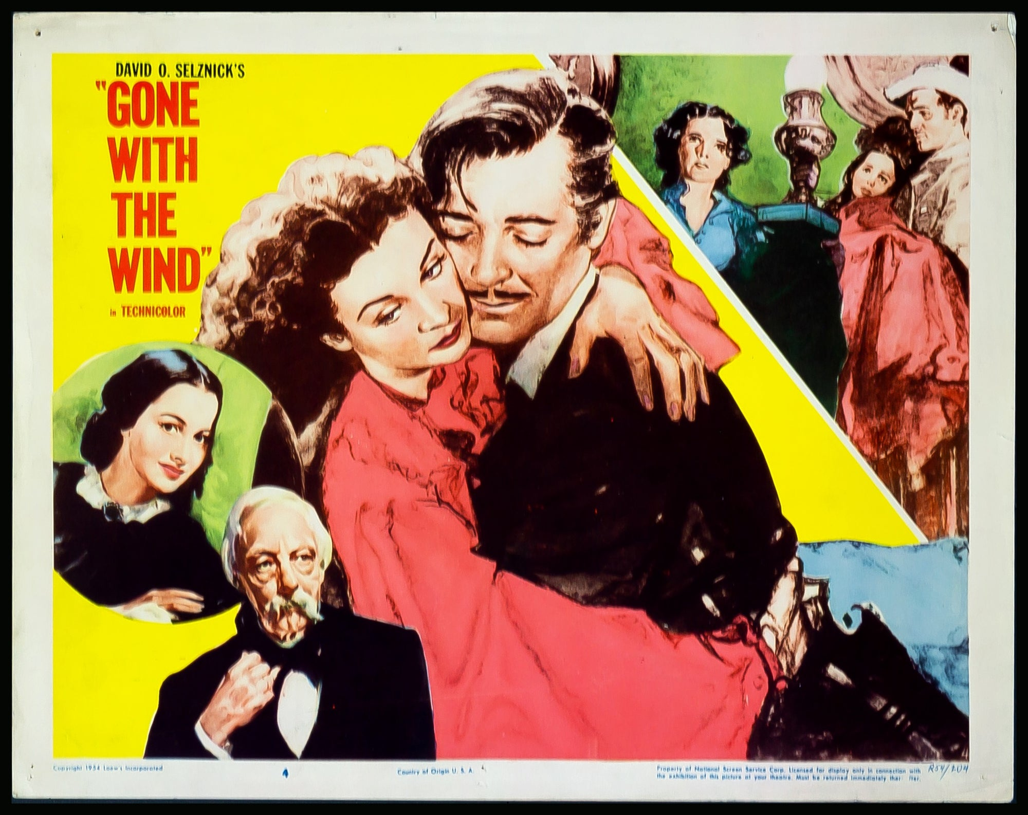 1939 movie poster reprint Original Gone With The Wind