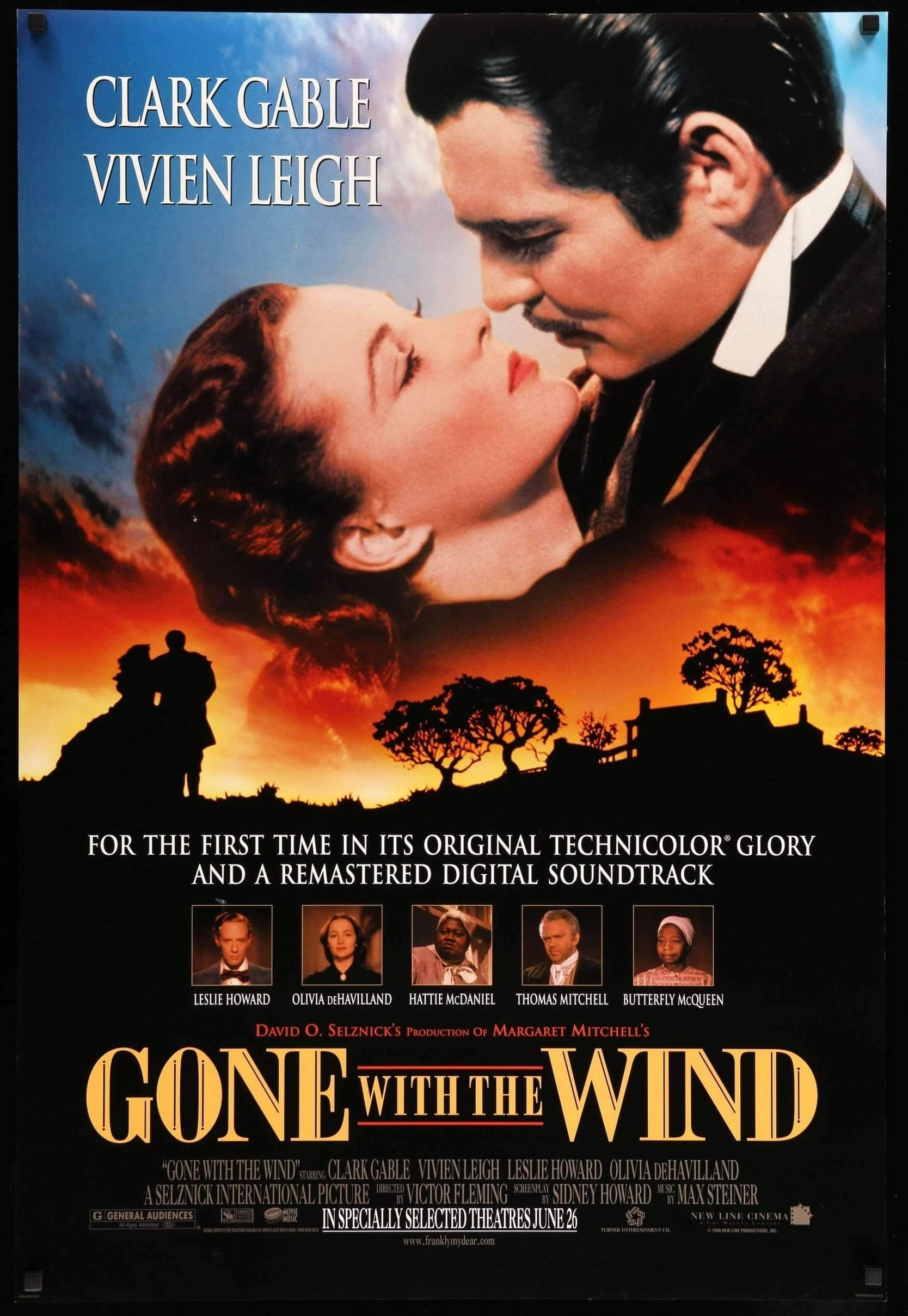 Gone with the Wind (1939) Original R98 One-Sheet Movie ...