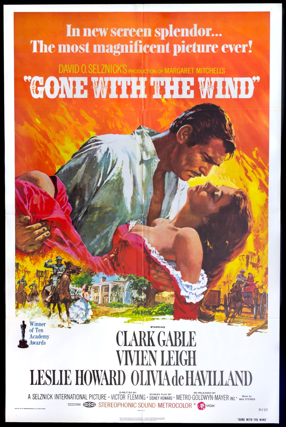 Gone with the wind Clark Gable #7 movie poster