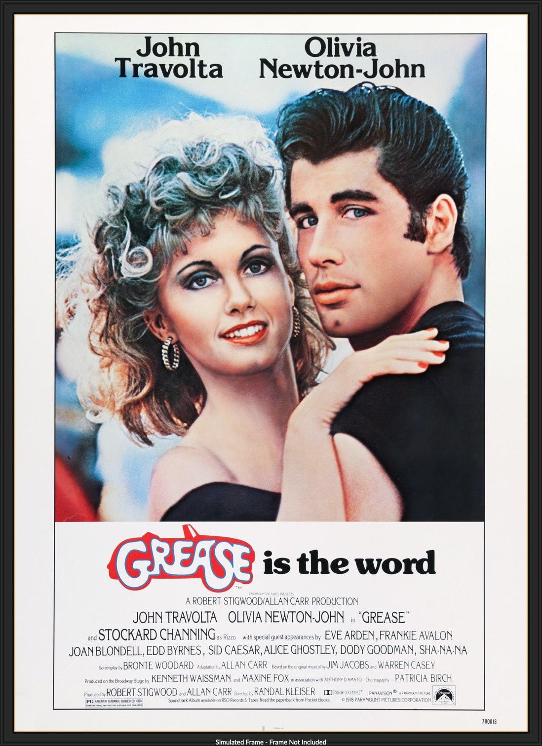 Grease 1978 Original Thirty By Forty Theatrical Movie Poster Original Film Art Vintage Movie Posters